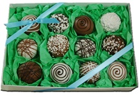 Cake Truffle Gift Box of 12, Classic Designs