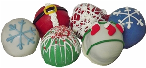 Cake Truffles Holiday Designs, Gift box of 12