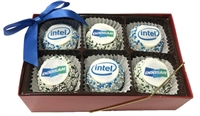 Logo Cake Truffles - Gift Box of 6 (ASI ONLY)
