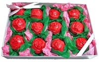 Cake Truffle Gift Box of 12, Rose Designs