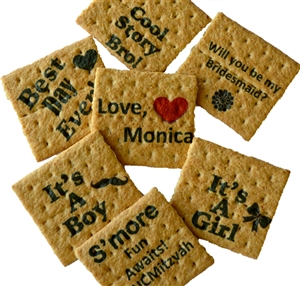 Graham Crackers - Custom Printed Message