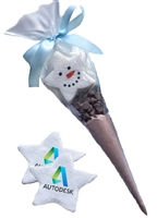 Custom Hot Chocolate Holiday Marshmallow Cone, each