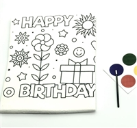 Marshmallow Paint Your Own Coloring Birthday Card