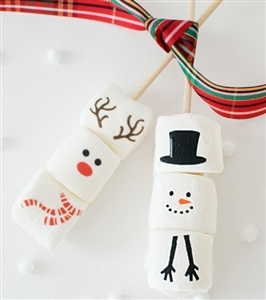 Marshmallow Sticks - Holiday Designs, Set of 4