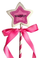 Marshmallow Pops - Personalized Princess Wand
