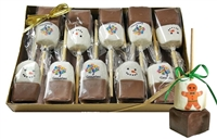 Hot Chocolate Sticks - Custom Holiday Gift Box of 10