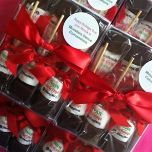 Hot Chocolate Sticks - Custom Logo Holiday Gift Box of 6