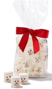 Snowman Face Marshmallows, Gift Bag of 18