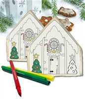 Color Your Own Gingerbread House Cookies, Gift Box of 6