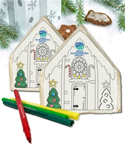 Color Your Own Custom Gingerbread House Cookies, Gift Box of 6