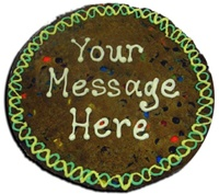 "12"" Giant Cookie Cake, Personalized Message"