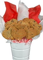 Chocolate Chip Heart Shaped Cookie Bouquet