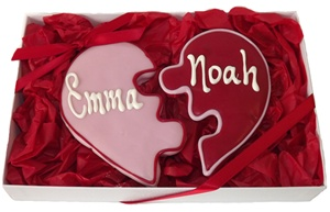 Heart Cookie Puzzle Gift Box, Personalized