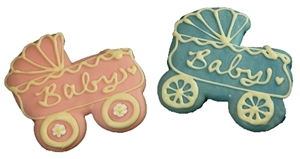 Hand Dec. Cookies - Baby Carriage