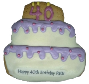 Hand Dec. Cookies -Birthday Cake, Personalized