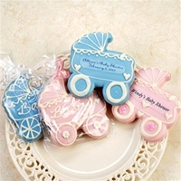Hand Dec. Cookies - Baby Carriage Cookie, Personalized