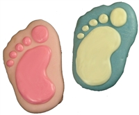 Hand Dec. Cookies - Baby Feet