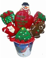 Holiday Cookie Gift Bouquet, Hand Dec.
