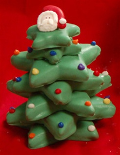Hand Dec Cookies 3d Christmas Tree In Gift Box