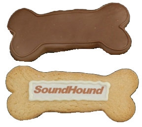 decorated cookie Dog Bone