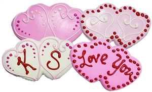 decorated cookie Double Heart