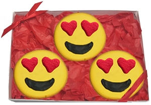 Hand Dec. Emoji Cookie Gift Box