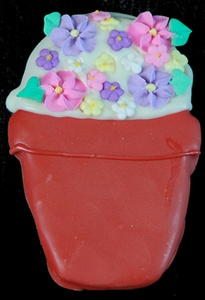 Hand Dec. Cookies - Flower Pot