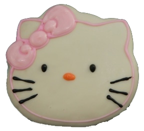 Hand Dec. Cookies - Hello Kitty