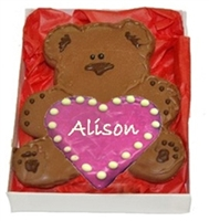 Sweet-Heart Bear Hug Cookie, Personalized