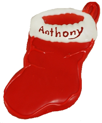 Hand Dec Cookies Personalized Stocking