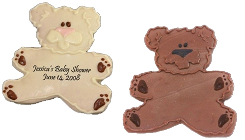 hand dec cookies personalized teddy bear
