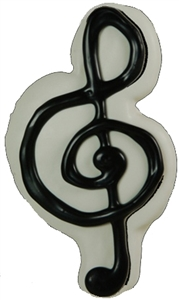 Hand Dec. Cookies - Treble Clef