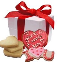 Valentine's Day Cookie Gift Box, Personalized