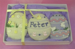 Easter Cookies, Personalized, Gift boxed