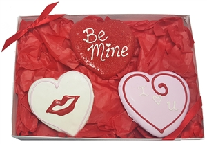 Hand Dec. Heart Cookies Gift Box