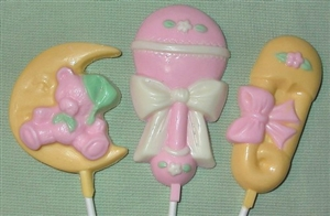 Hand Painted Chocolate Pops - Baby Theme