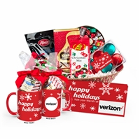 LOGO Happy Holidays Chocolate & Candy Gift Basket