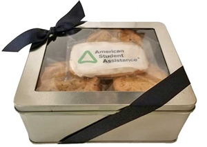 Logo Cookies - Gift Tin, Assorted Cookies & One Logo Cookies (ASI ONLY)