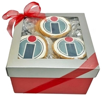 Logo Cookie Gift Basket, one dozen