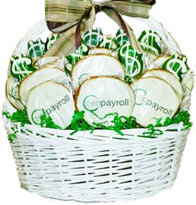 Logo Cookies Gift Basket of 18