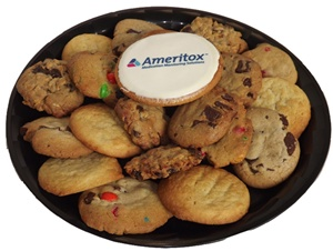 Logo Cookie Gift Platter - Small, One Logo Cookie