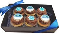Mini Cupcake - Holiday Logo Gift Box of 6