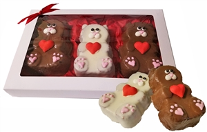 Valentine's Day Mini Bear Cakes, Gift box of 3
