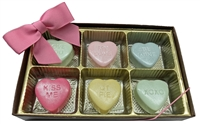 Mini Oreo® Cookies - Conversation Hearts, Gift Box of 6