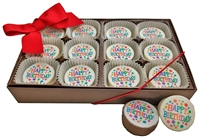 Mini Oreo® Cookies - Happy Birthday, Gift Box of 12