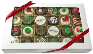Mini Logo Oreo® Cookies - Holiday Designs, Gift Box of 24 (ASI ONLY)