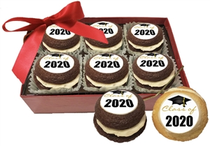 Mini Whoopie Pies - Graduation Image, Gift Box of 6