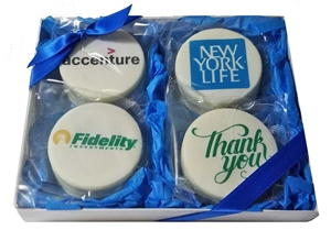 Oreo® Cookies - Deluxe Logo Gift Box of 4