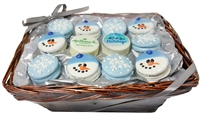 Oreo Cookies Winter Theme Gift Basket of 24