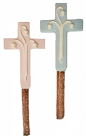 Pretzels - Large Molded Cross, EA